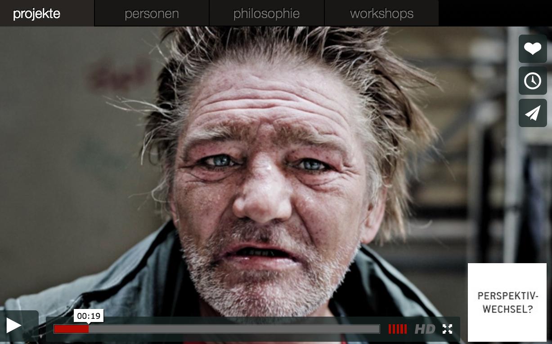 """2470media: Gero / Screenshot aus der Multimedia-Reportage """"Der Obdachlose"""" von Plutonia Plarre und Jannis Keil. Foto: © Jannis Keil/2470media"""