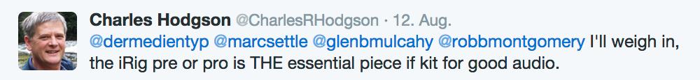 """Charles Hodgson empfiehlt im Blog """"dermedientyp"""" seine Top-3 Smartphone-Accessoires."""