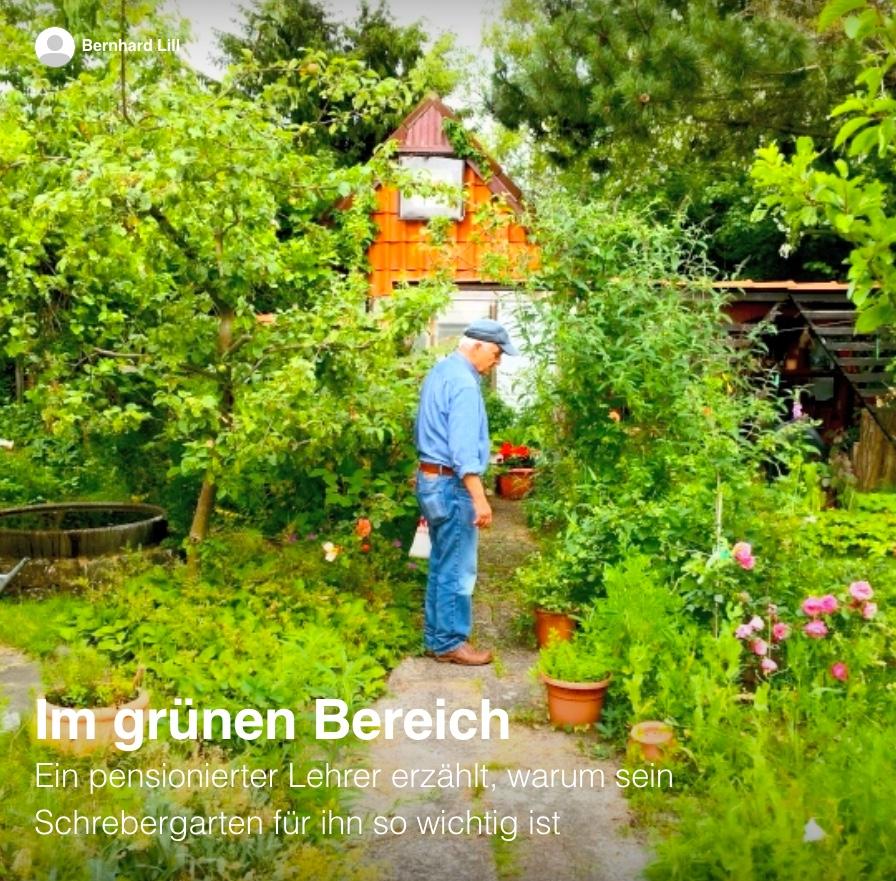 Scrollytelling-Reportage: Im grünen Bereich – Ein Schrebergärtner erzählt.