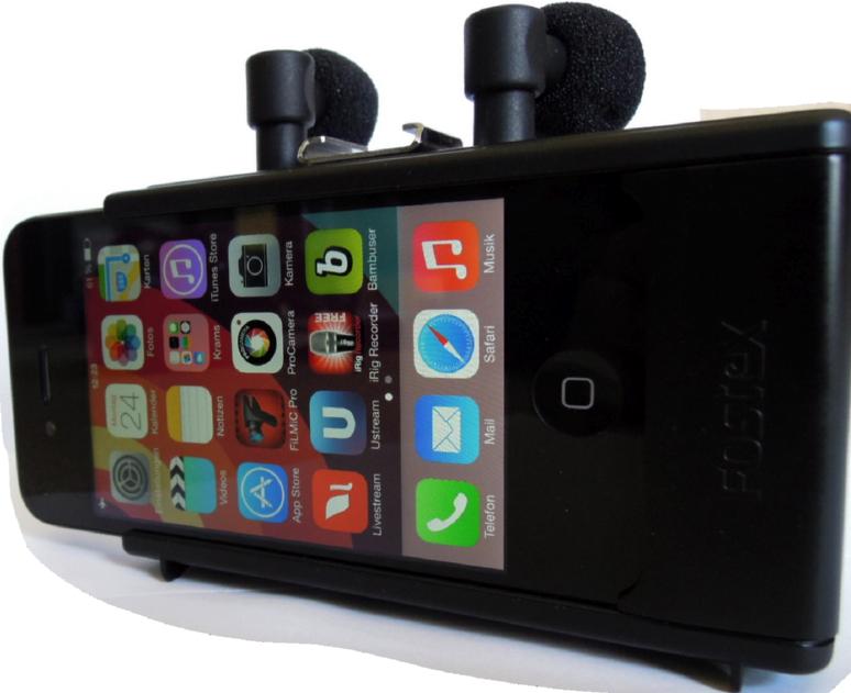Das Fostex AR-4i ist ein Audio-Interface fürs iPhone 4s.