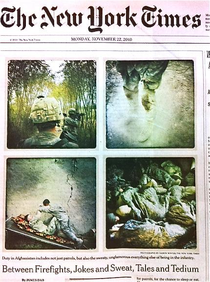 Vier Kriegsfotos des Fotografen Damon Winter.